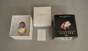 James Bond 007. A Royal Doulton 'Spectre' Jack china Bulldog figure, issued in 2015, appears E and