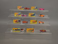 8 boxed Matchbox 1-75 series models from their 'Superfast' range including 6 Mercedes 350SL, 18