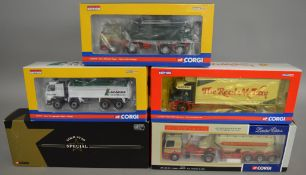 5 Corgi 1:50 scale die-cast truck models, which includes; Gold Star Special W.H. Higgins & Sons