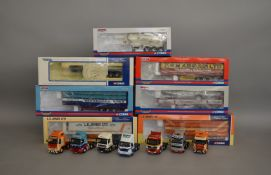 7 Corgi 1:50 scale die-cast truck models, which includes; A Howe & Sons LTD, Lawson's Haulage LTD