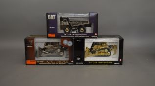 3 CAT 1:50 scale boxed die-cast Collectable / Commemorative models by Norscot; 55157, 55148 and