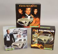 James Bond 007 3 limited edition Scalextric slot cars; C3162A Aston Martin DB5 'Casino Royale'