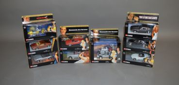 James Bond 007. 9 boxed Corgi die-cast models from the 'Definitive Bond Collection' issued in
