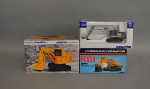 3 boxed construction related Komatsu die-cast models (3).