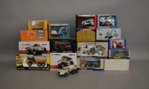 16 boxed construction and agricultural related die-cast models by; Norscot, Conrad etc (16).