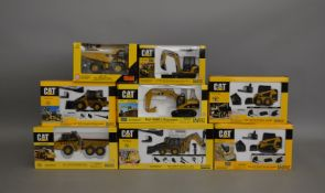 8 Caterpillar die-cast scale boxed models by Norscot, including; 320C L Excavator, 226 Skid Steer