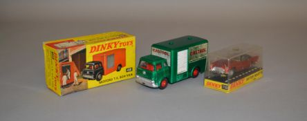 2 boxed Dinky Toys including 110 Aston Martin DB5 in metallic red, G+/VG in G box and 450 Bedford TK
