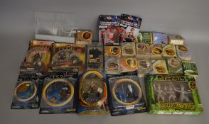 A mixed lot of figures which includes; Planet Of The Apes, Terminator 2, Lord Of The Rings,