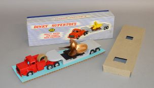 A boxed Dinky Supertoys 986 Mighty Antar Low Loader with Propeller, appears VG with the load