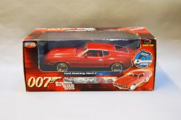 James Bond 007. A boxed Joyride 1:18 scale Ford Mustang Mach 1, issued in 2005, modelled on the