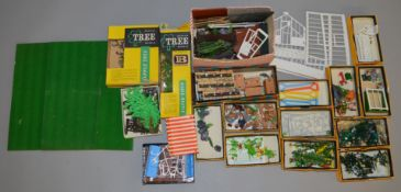 A quantity of vintage Britains items from their 'Floral garden' range, including two boxed