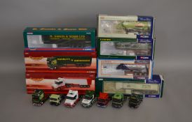 7 Corgi 1:50 scale die-cast truck models, which includes; G A Smith, R Swain & Sons LTD etc, all are