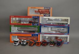 7 Corgi 1:50 scale die-cast truck models, which includes; RDL Distributions, Marshalls, Howe etc,