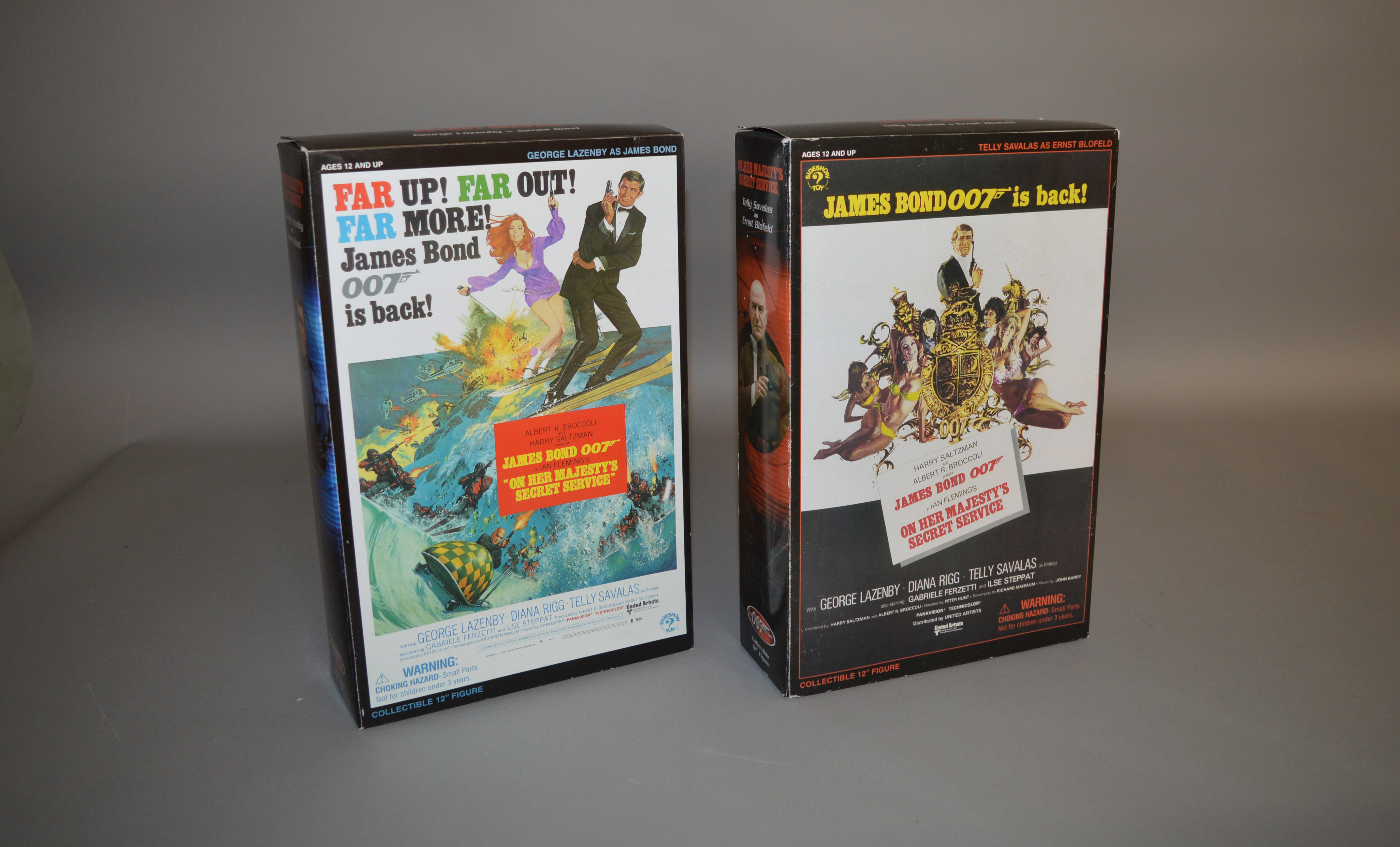 Lot 40 - James Bond 007. 2 boxed Sideshow 12 inch action figures from the film 'On Her Majesty's Secret