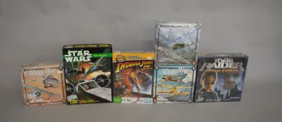 3 Wings of War games along with 3 role playing games; Indiana Jones, Tomb Raider and Star Wars (6).
