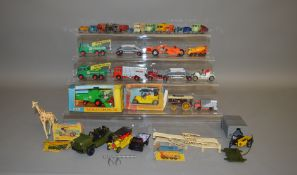 A boxed Matchbox King Size K-9 Combine Harvester, G+ in P/F box together with 21 playworn Matchbox