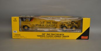 Caterpillar 784C Tractor with Towhaul classic lowboy trailer 1:50 scale die-cast boxed model by