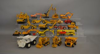 22 unboxed construction and agricultural related die-cast models by NZG, Joal, Siku etc contained in