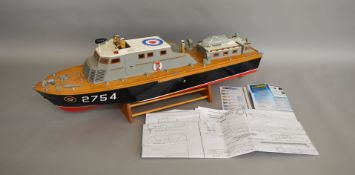 An impressive radio controlled model of a Vosper 68ft R.T.T.L RAF Target Towing boat,