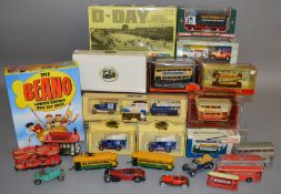 12 boxed die-cast models by Corgi, Lledo etc, which includes; The Beano Limited Edition Box Set
