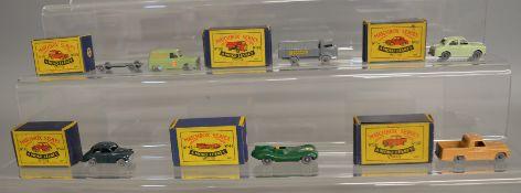 6 boxed models from the Matchbox Lesney 1-75 series Regular Wheel range including 38a Karrier Bantam