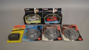 James Bond 007 6 die-cast models including a carded Matchbox World Class 37 Aston Martin DB7 with