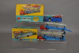 A boxed Corgi Toys Gift Set 16 which contains an Ecurie Ecosse Racing Car Transporter and two Racing
