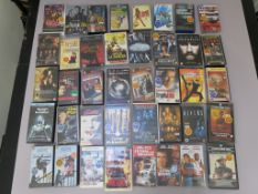 40 Ex-rental vhs video tapes direct from a video shop that traded over 25 years closing in 2005.