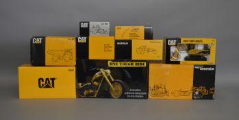 9 Caterpillar die-cast scale boxed models by; NZG, Joal etc (9).