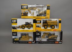 5 Caterpillar die-cast scale boxed models by Norscot, including; a collectable D10T Track Type