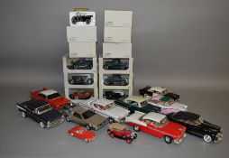 12 boxed American diecast car models, mostly in 1:32 scale, by Signature and the National Motor