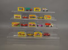 5 boxed Matchbox 1-75 series models from their 'Superfast' range including 22 Freeman Intercity