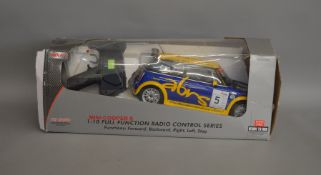 A boxed MJX Remote Control Technic Mini Cooper S in 1:10 scale, generally appears G+ in P/F box.