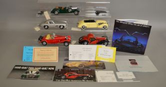5 unboxed models by Franklin Mint along with certificates of authenticity, including; Bugatti,