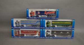 5 Scania 1:50 scale die-cast truck boxed models, all are collectors editions including; Rory