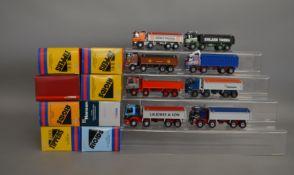 8 Corgi 1:50 scale die-cast truck models, which includes; J C Balls & Sons, J.H. Jones & Son etc,