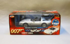 James Bond 007. A boxed Joyride 1:18 scale  Corvette, issued in 2005, modelled on the vehicle in the