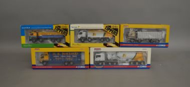 5 Corgi 1:50 scale die-cast truck models, which includes; Tarmac, Malcolm etc which are limited