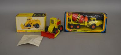 2 boxed construction related die-cast models; Dinky #976 Michigan 180-III Tractor Dozer and Corgi