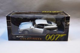 James Bond 007. A boxed Autoart 1:18 scale Aston Martin DB5 version without Gadjets, issued in 1999,
