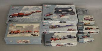 """8 boxed Corgi models from the """"Heavy Haulage"""" range along with an unboxed load (9)."""