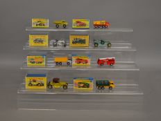 5 boxed Matchbox 1-75 series models from their 'Superfast' range including 4 Stake Truck, 10 Pipe