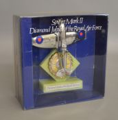 A boxed Dinky Toys 700 'Spitfire Mark II Diamond Jubilee of the Royal Air Force', chrome plated