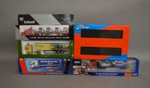 6 die-cast 1:50 scale boxed trucks by Tekno, Modelzone etc (6).
