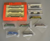 N Gauge. EX SHOP STOCK. A boxed Arnold (Rivarossi) Penn Central 3 coach set together with two