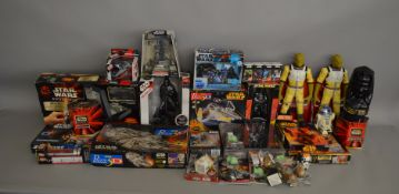 Star Wars mixed lot which includes; Alarm clocks, figures, mug, 3D puzzle, Galactic Battle game,