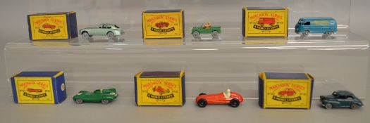 6 boxed models from the Matchbox Lesney 1-75 series Regular Wheel range including 12a Land Rover,