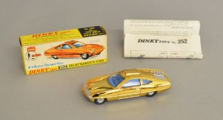A boxed Dinky Toys 352 Ed Strakers Car, modelled on the vehicle which appeared in the Gerry Anderson