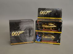James Bond 007. 3 boxed Corgi 'Corgi & Bond 40th Anniversary' diecast model issues all with gold