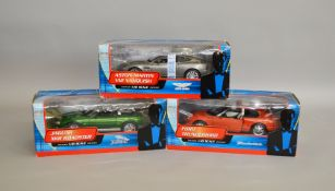 James Bond 007. A set of three individually boxed Beanstalk 1:18 scale models issued in 2002,